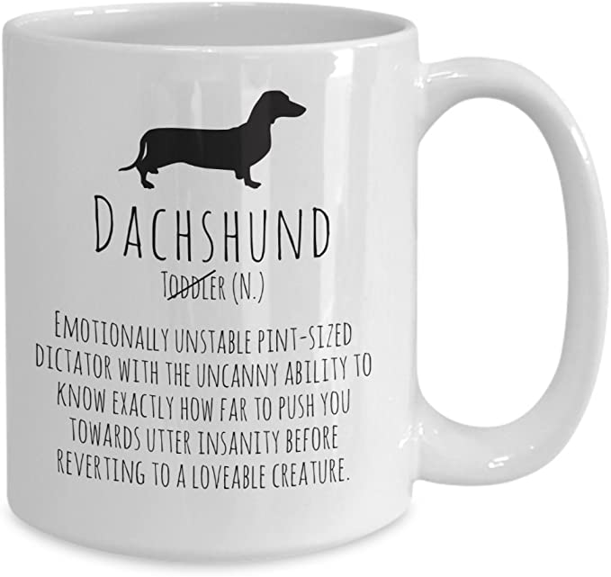 Funny Dachshund Definition Weiner Dog Coffee Mug Kitchen Dining