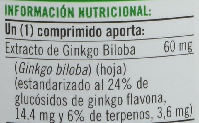 Natures Bounty Ginkgo Biloba 60 mg Suplemento - 60 Tabletas: Amazon.es: Salud y cuidado personal
