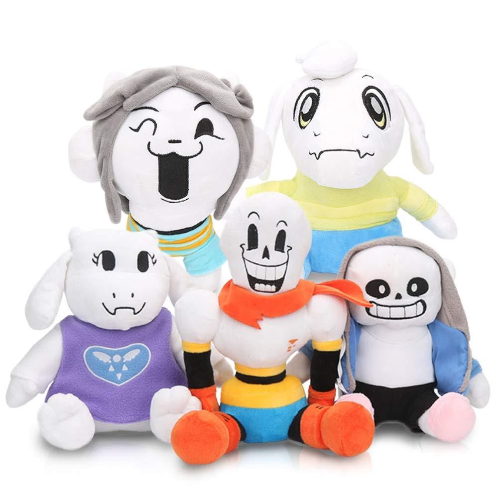 LevinArt 2pcs 30cm Anime Undertale Plush Toys Undertale Sans Papyrus Asriel Toriel Stuffed Plush Toys Doll for Kids Children Gift by LevinArt