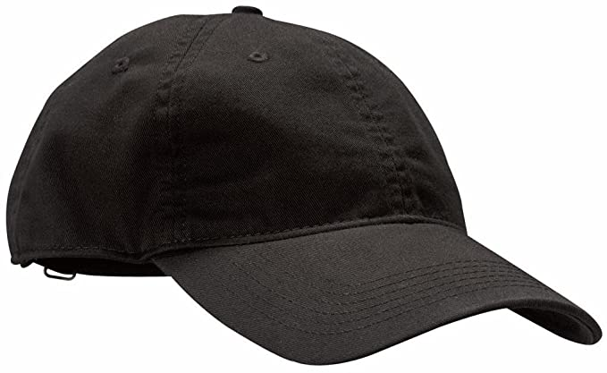 254ddd0fc9927 Amazon.com  econscious 100% Organic Cotton Twill Adjustable Baseball Hat  (Black)  Clothing