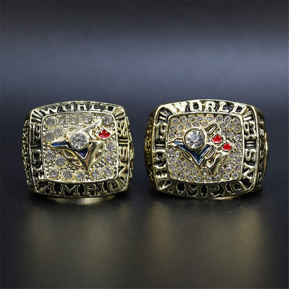 Baseball Championship Ring for Fans Mens Gift Twcuy Toronto Blue Jays 1992 1993 2 Years Championship Rings Set