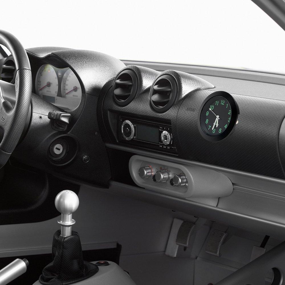 Itimo Horloge de voiture D/écorations m/écanique /à quartz Mini Grille da/ération de voiture Clip Horloge montre Car-styling Auto D/écoration Noir