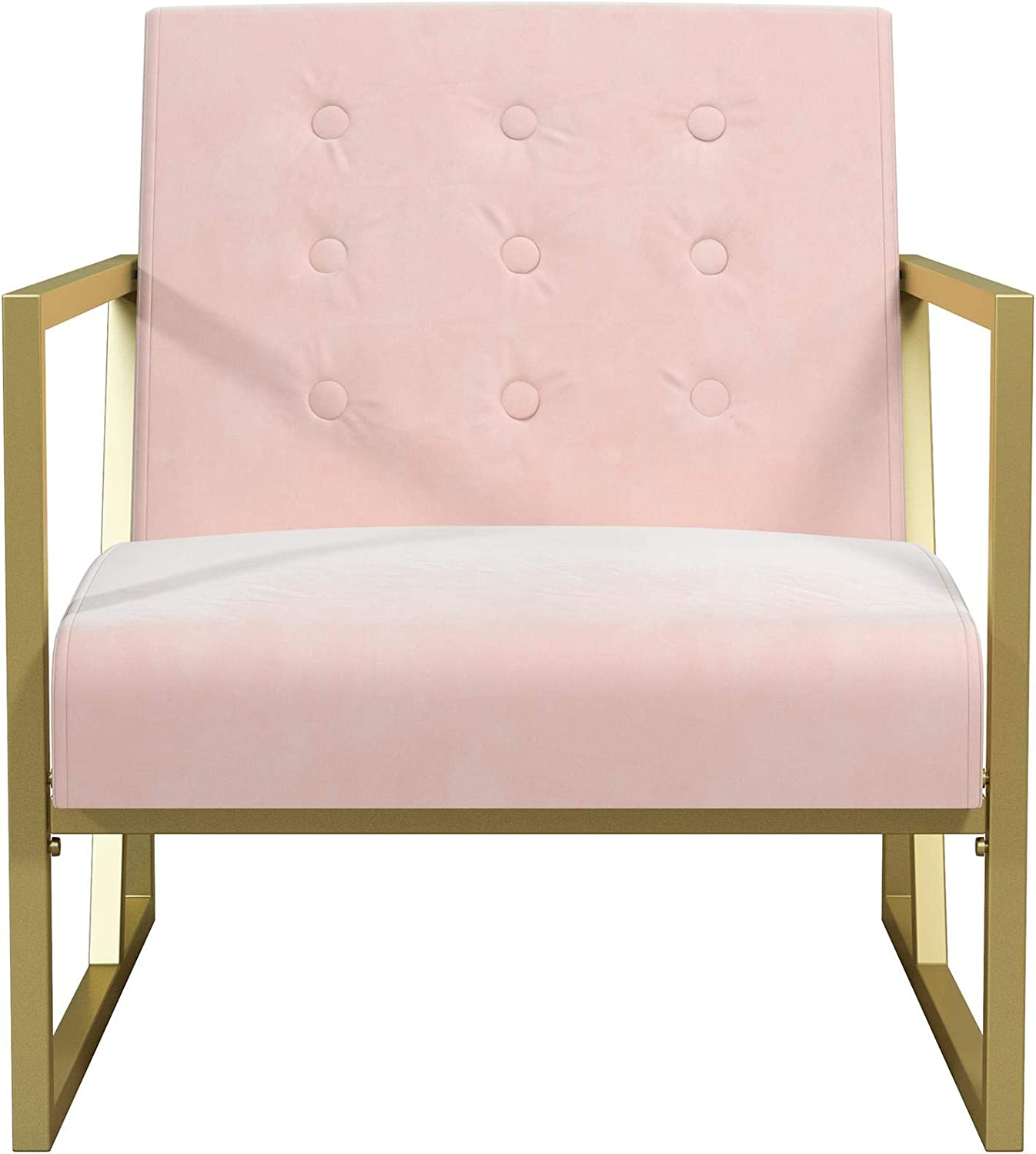 Gold Frame /& Bleached Teal Velvet Upholstery Chairs CosmoLiving by Cosmopolitan 2231679CL Lexington Modern