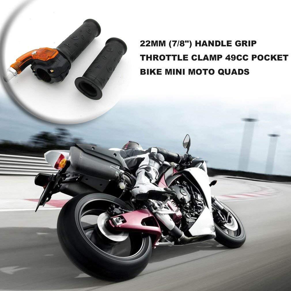 leoboone 22mm Griff Gasgriff Klemme 49cc Pocket Bike Mini Moto Quads Twist Drossel-Gaspedal Grip 7//8
