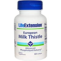 Life Extension European Milk Thistle-Advanced Phospholipid Delivery Soft Gels, 60 Count