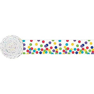Dots Crepe Streamer | Multicolored | Party Decor: Kitchen & Dining
