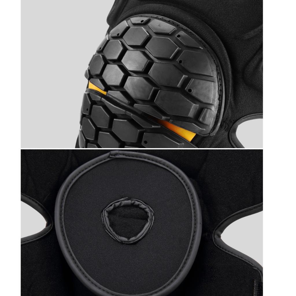 MagiDeal Paraginocchia Ginocchiere Regolabile Per Moto Protezione Antiscivolo Parastinco Antiurto