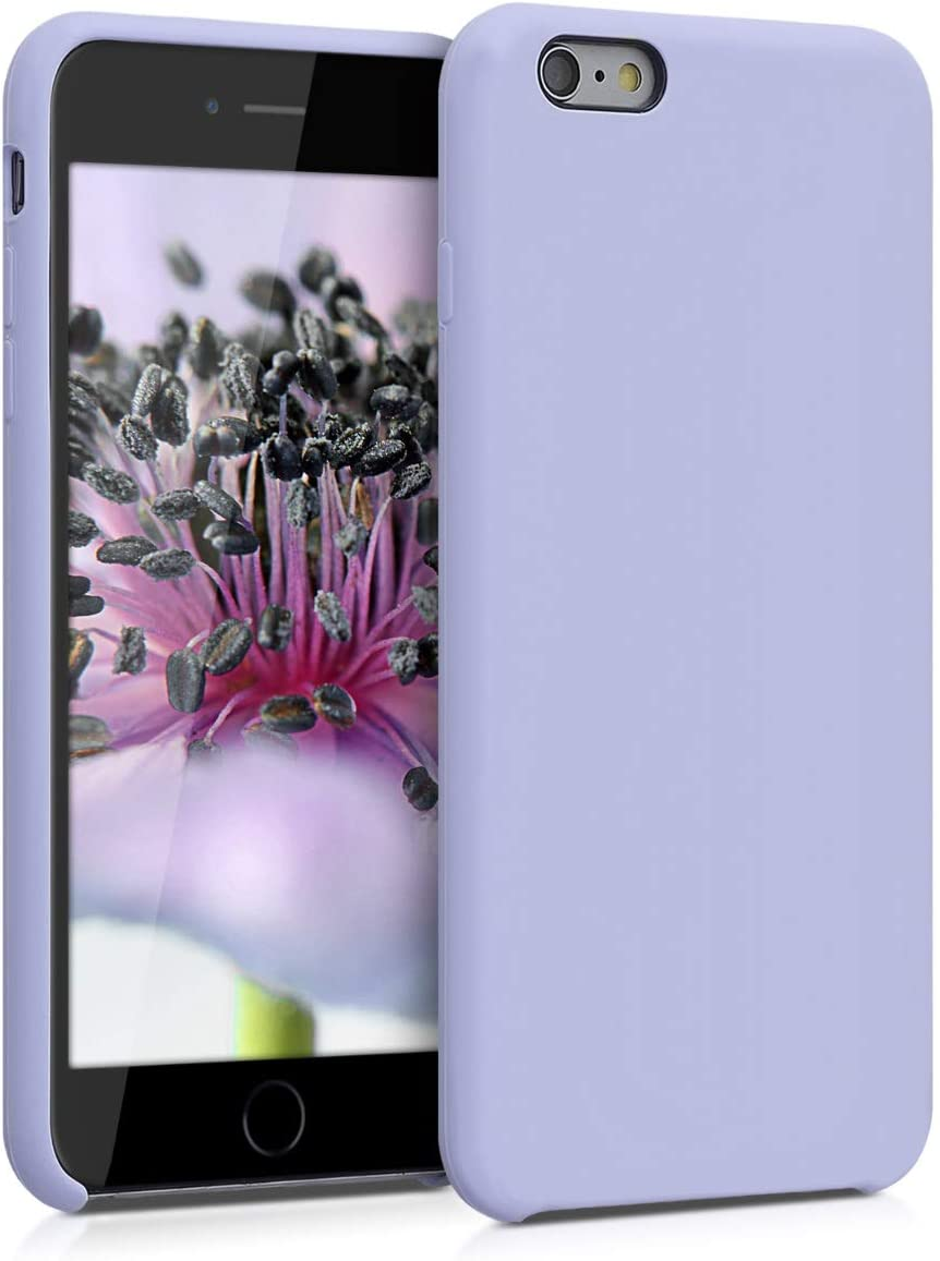 kwmobile TPU Silicone Case Compatible with Apple iPhone 6 Plus / 6S Plus - Case Slim Protective Phone Cover with Soft Finish - Light Lavender
