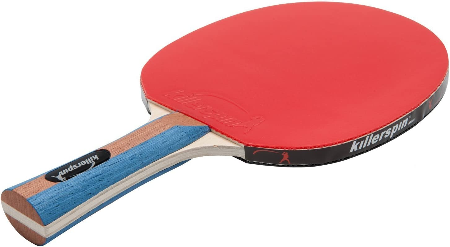 Killerspin JET SET 4 Ping Pong Paddle Set with 6 Balls Ð Beginner Table Tennis Racket Set| 5 Layer Wood Blade, Jet Basic Rubbers, Flared Handle| ...