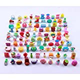 Qiyun 50Pcs Random Cartoon Character Doll of Shopkins of Season Action Figure Doll for Pretend Play