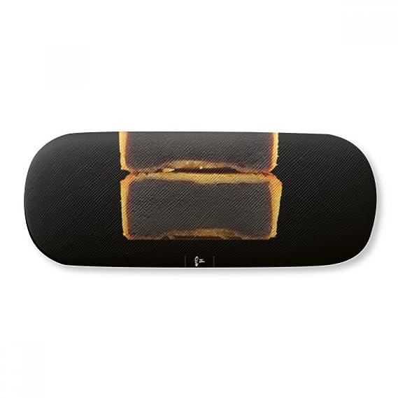 Red Bean Paste Moon Cake Mid-Autumn Festival Glasses Case Eyeglasses Clam Shell Holder Storage Box