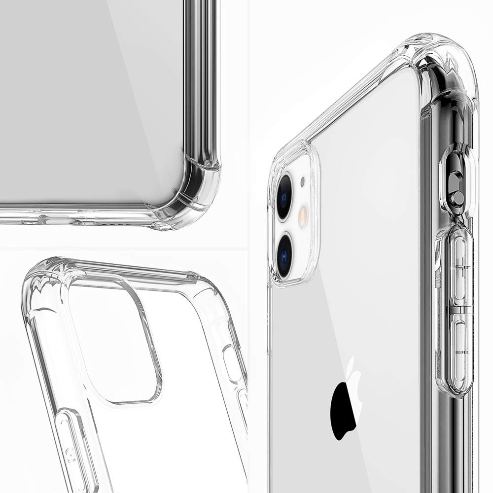Tukcherry Custodia iPhone 11, Trasparente TPU Morbido Silicone iPhone 11 Bumper Cover [Anti-Graffio] [Antiurto] Custodia Trasparente Protettiva Case per iPhone 11-6.1 Pollici