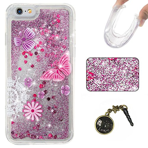 "Laoke Carcasa para iPhone, Funda TPU, flores, Premium, piel sintética, 4, iphone6(4.7"") 6"