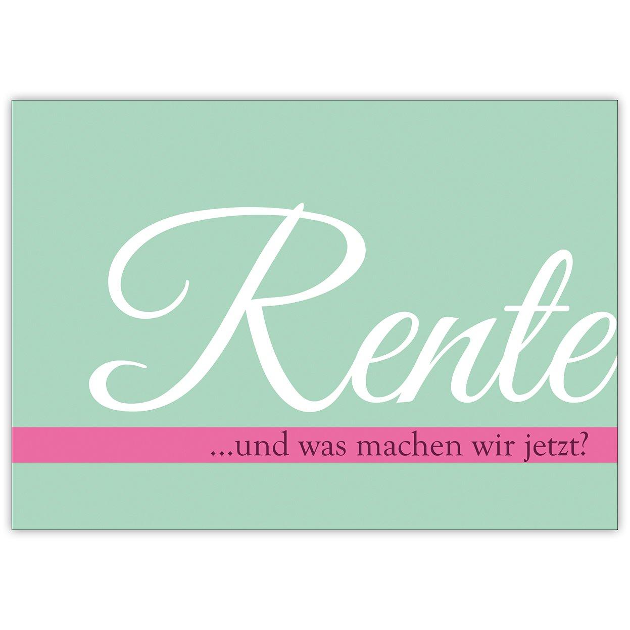 Juego de 5: nette Ruhestand tarjeta para mujeres: jubilado ...