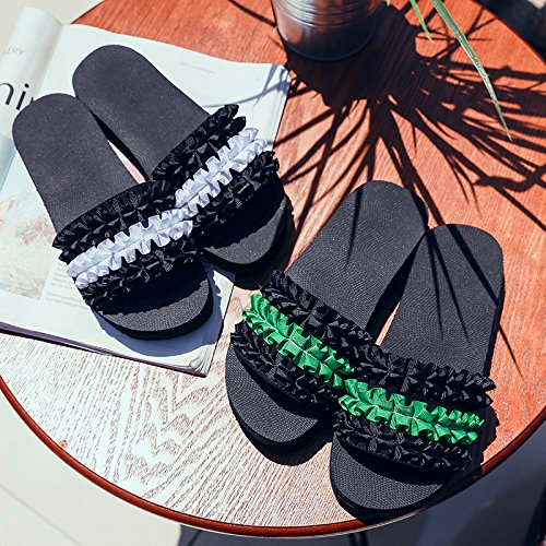 Pantofole Fondo E Piatto Qingchunhuangtang Antislittamento Su All'Aperto Verde Trainato 4YdxgaqF
