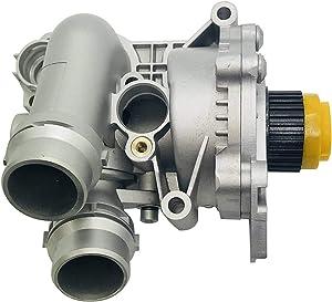 Bapmic 06H121026BA Aluminum Water Pump Assembly Compatible with A3 A4 TT Volkswagen Tiguan Jetta Golf GTI Eos Beetle CC 2.0T TSI