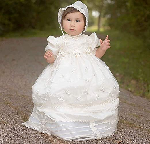 8ca2d326b Hand Embroidered Christening Dress Burbvus G006 | Christening Gown ...