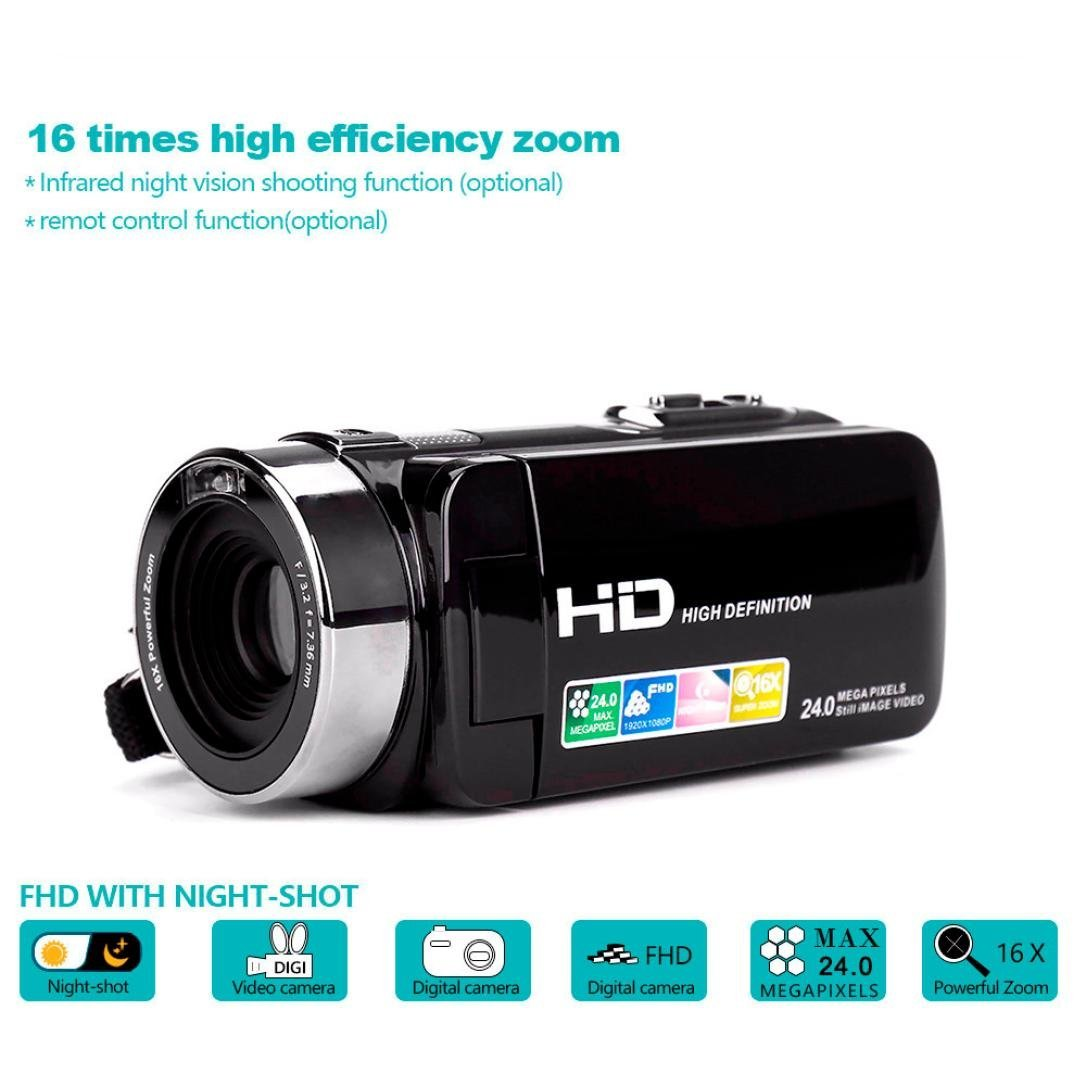 Jinjin Infrared digital High-definition Sensor RC Cameras/FHD1920X1080/HD720P/Night Vision,Motion Detection, Loop Recording and G-sensor,Shipped from USA (black) by Jinjin