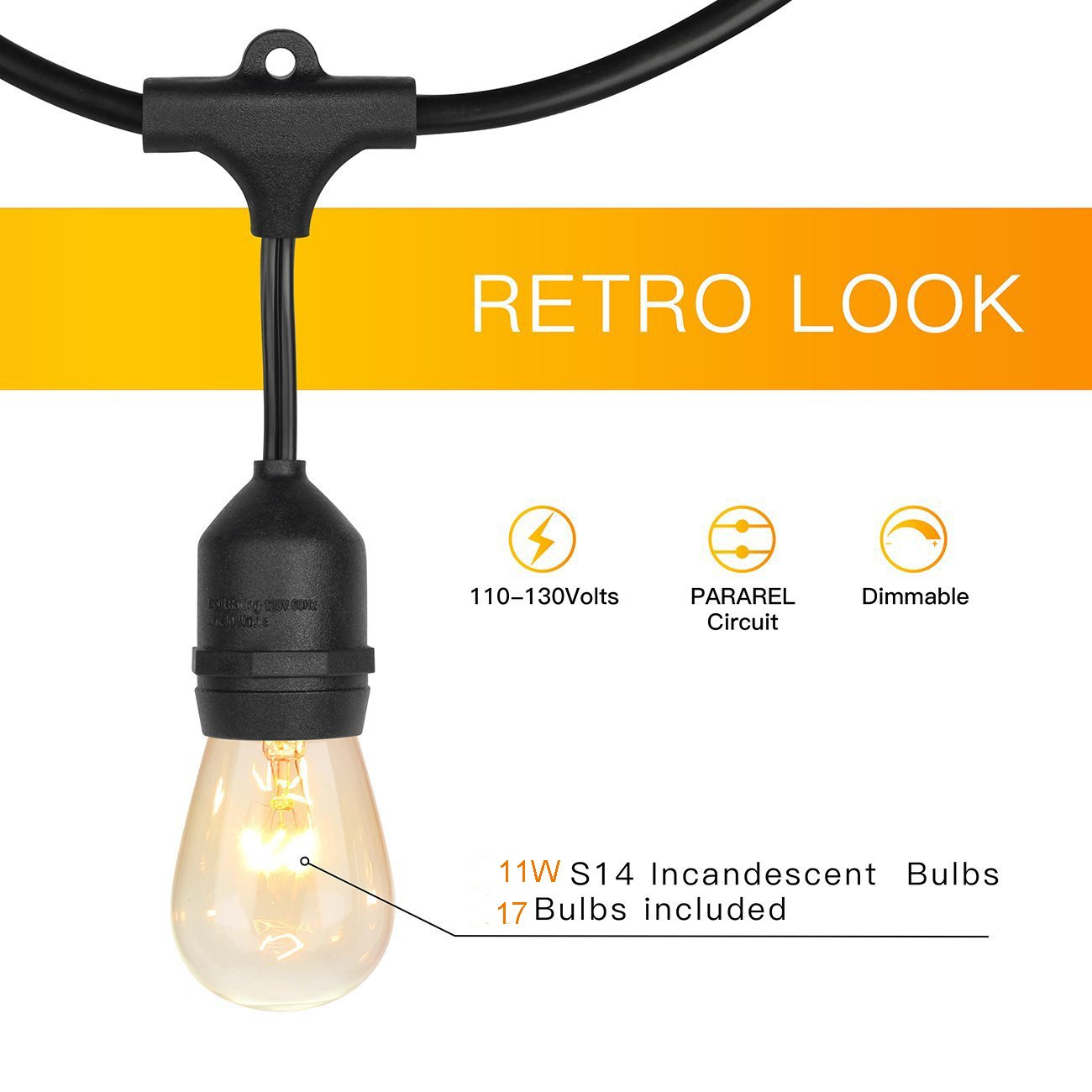 Amazon.com: Warmstore - Guirnalda de luces vintage para ...