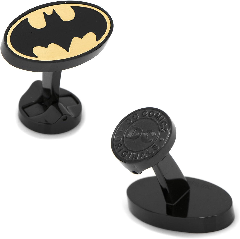 Cufflinks Stainless Steel Black and Gold Batman