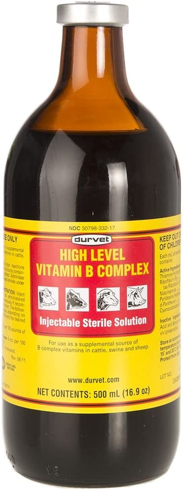 Durvet 063404 High Level Vitamin B Complex Yellow.500Ml