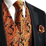 Image of Men's 3pc Paisley Vest (XL (Chest 46), Rust Orange)