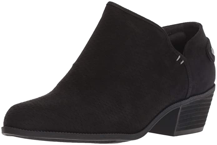 Dr. Scholls Womens Better Faux Suede Perforated Ankle Boots
