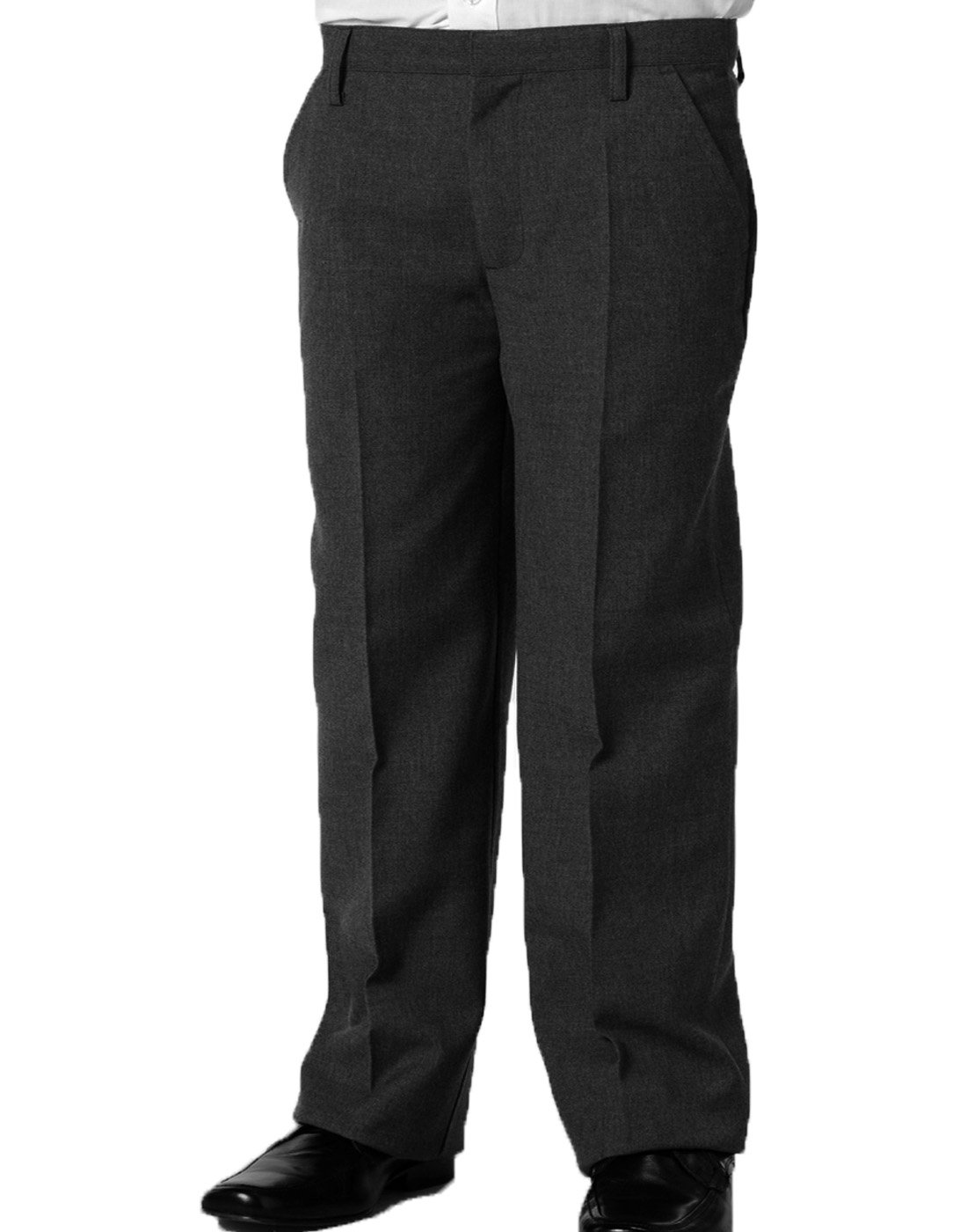 Dalsa Boys Plus Size Generous FIT Sturdy School/Formal Trousers/Short Leg in Black,Grey, Navy, Charcoal