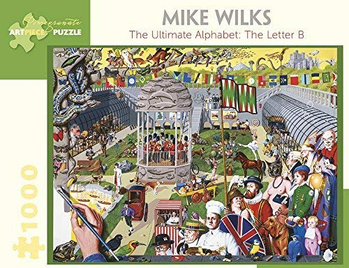 (Mike Wilks the Ultimate Alphabet the Letter B 1000-Piece Jigsaw Puzzle Aa963)