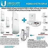 Ubiquiti NSM2 4PACK NanoStation 2.4GHz 16dBi MIMO +ETH-SP x4 Surge Protector ESD