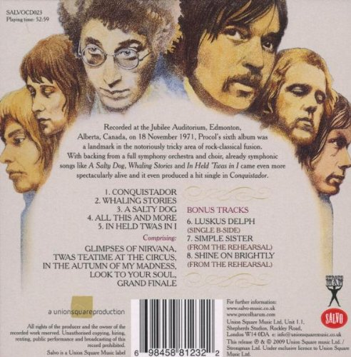 Live In Concert With The Edmonton Symphony Orchestra - Procol Harum by Salvo