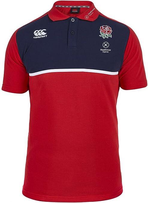Canterbury Polo de Entrenamiento de algodón de Rugby Inglaterra ...