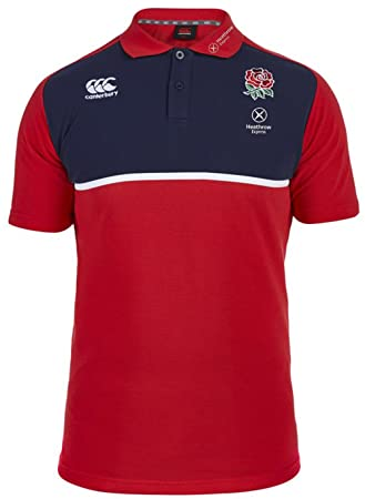 ba51db50530 Canterbury England Rugby Sevens Cotton Training Polo Shirt: Amazon ...