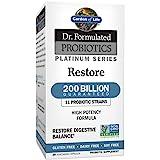 Garden of Life Dr. Formulated Probiotics Platinum Series Restore 200 Billion CFU Guaranteed, High Potency Probiotic Formula,
