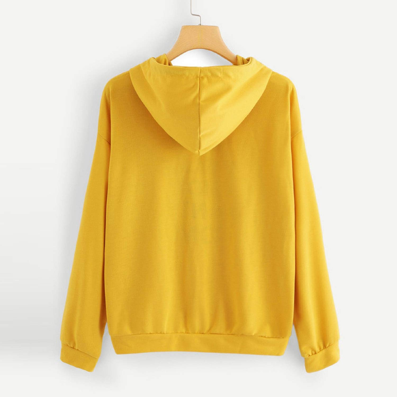 spyman 2018 Women Hoodies Casual Lady Sweatshirts Long Sleeve Loose Pocket Autumn Winter Spring Letter Print Cute Hoodie Sudaderas #NL, Black, ...