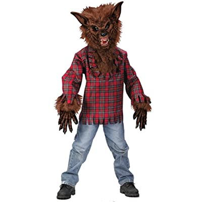 Fun World Werewolf Brown Costume, Large 12 - 14, Multicolor: Toys & Games
