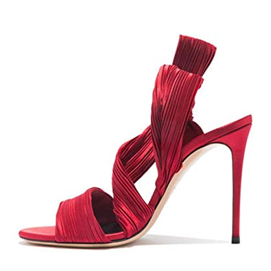 Lace-Up Womens Sandals Open Toe Heels