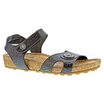 Walking Cradles Women's Pickens Sandal,Black Razor Leather/Cork,US ...