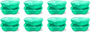 product image for Preserve Dishwasher Safe BPA Free Sandwich Food Storage Container Made from Recycled Plastic in the USA, Bulk Set of 16, Aqua Blue