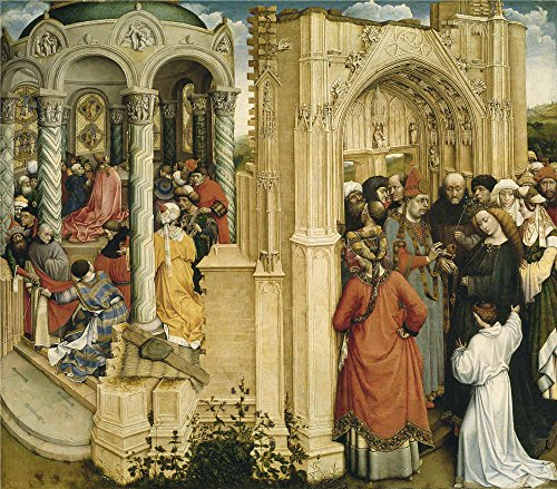 Oil Painting 'Campin Robert The Betrothal Of The Virgin Ca. 1420', 8 x 9 inch / 20 x 23 cm , on High Definition HD canvas prints is for Gifts - Sunglasses Angeles Los Used
