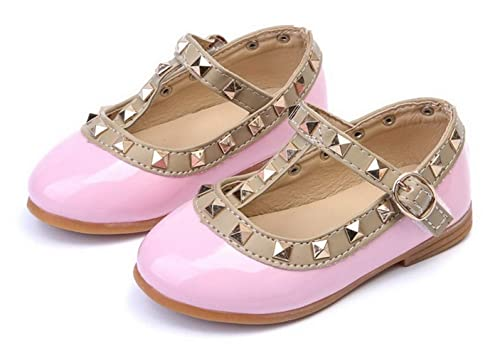 d22eda1404 Beau Today Girls Princess Shoes Mary Jane Ballet Flat Dress Shoes T-Strap  RIV.