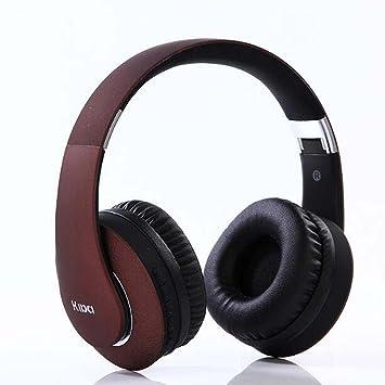 Hzhy Auriculares inalámbricos Bluetooth 4.0 Ordenador Auriculares Mini Auriculares Plegables Bluetooth Deportes al Aire Libre Auriculares (Color : Vino ...