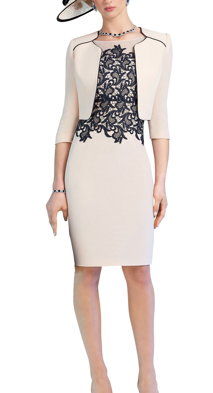 ShineGown Hellrosa Spitze Applique Pencil Kleid mit kurzen Satin ...