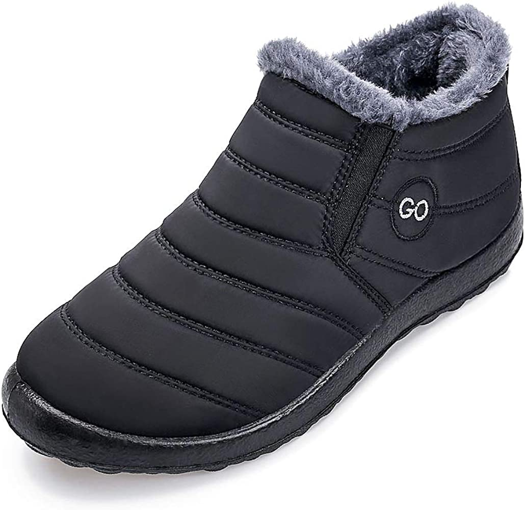 Womens Winter Snow Boots Fur Lined Warm