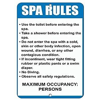 Amazon.com: Reglas de spa y reglamentos leer y seguir las ...