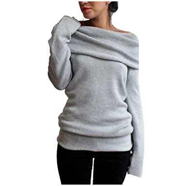 Sheng Xi Womens Pure Colour Knitting Shirt V Neck Long Sleeve Sweater