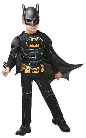 Rubies - Disfraz de Batman Deluxe para niño, 5-6 años (Rubies 300002-M)