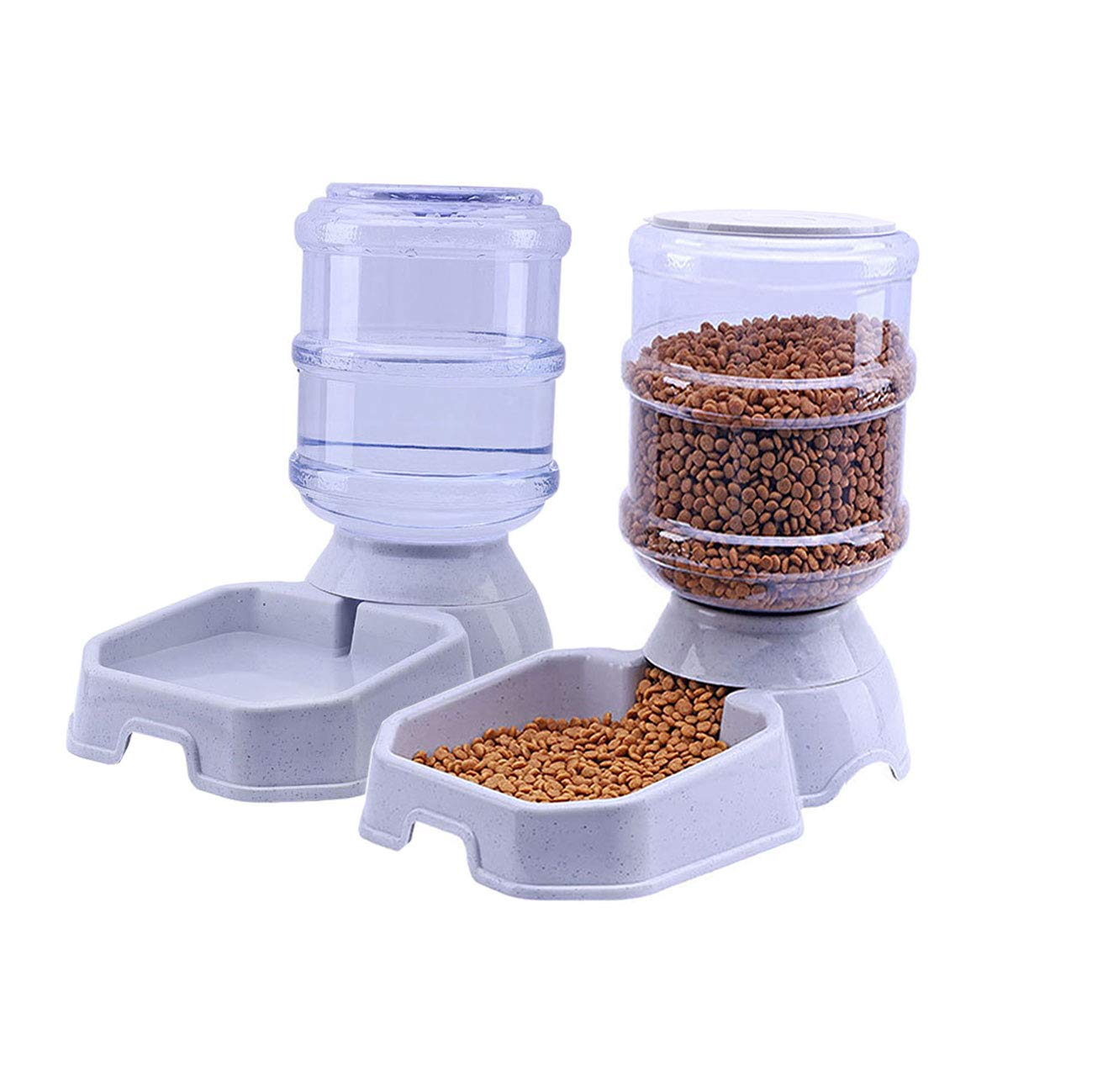 Chuanyue Pet Waterer Feeder Pet Automatic Waterer Dog Water Dispenser 1 Gallon Cat Dog Food and Water Dispenser