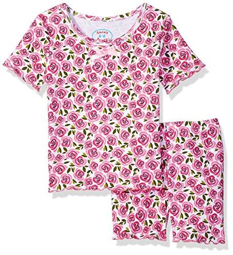 Sara's Prints Big Girls' Fitted Short Pajamas, Sweet Rose-SRO, 10 - Sara Girls Clothing