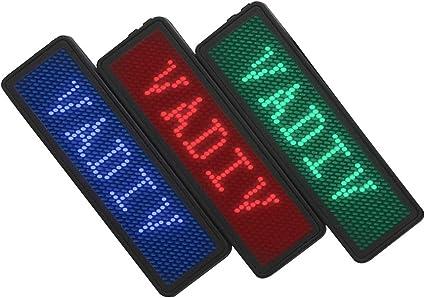 badge nominatif led défilement message de signe lumineux